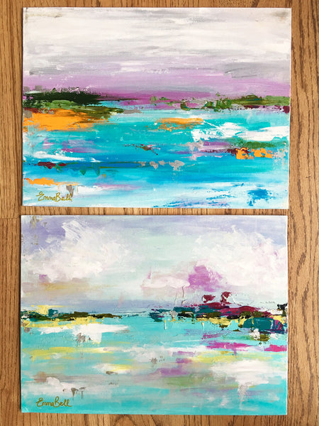 Teal and Purple Landscape