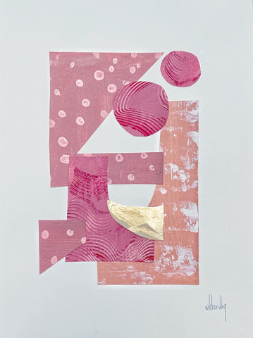 Pink Collage IV painting Mary Kathryn Kendig - Christenberry Collection