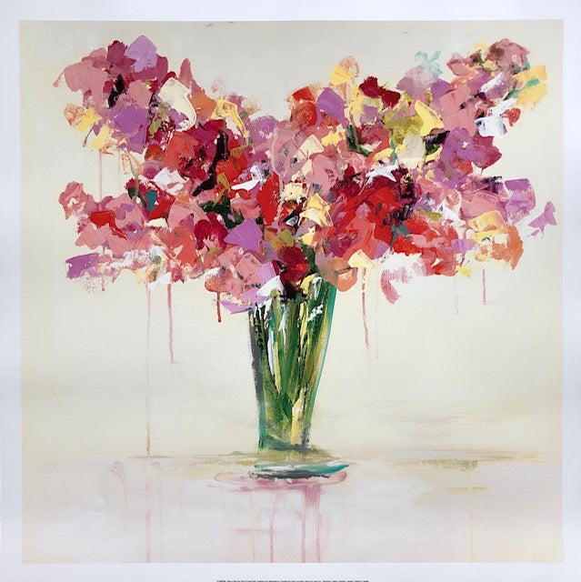Vase of Red and Pink painting Emma Bell - Christenberry Collection