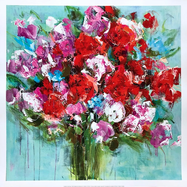 Red Roses painting Emma Bell - Christenberry Collection