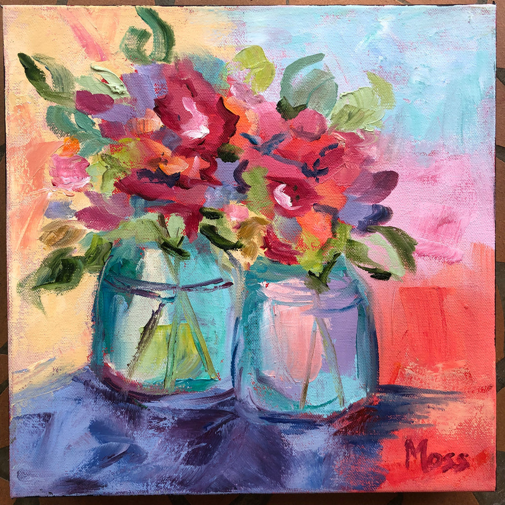 Splash Of Color painting Jenny Moss - Christenberry Collection
