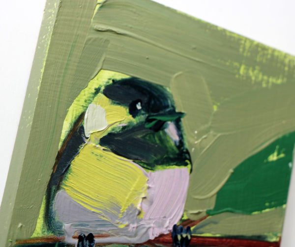Chickadee No. 981 painting Angela Moulton - Christenberry Collection