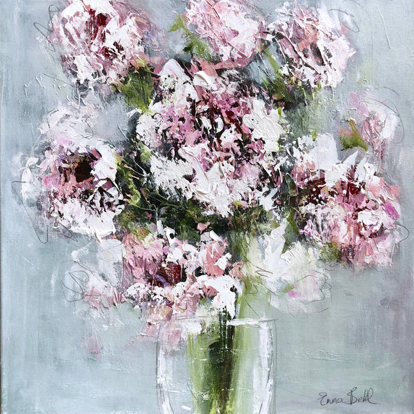White Flowers painting Emma Bell - Christenberry Collection
