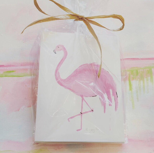 Sissys Flamingo Notecards | Christenberry Collection