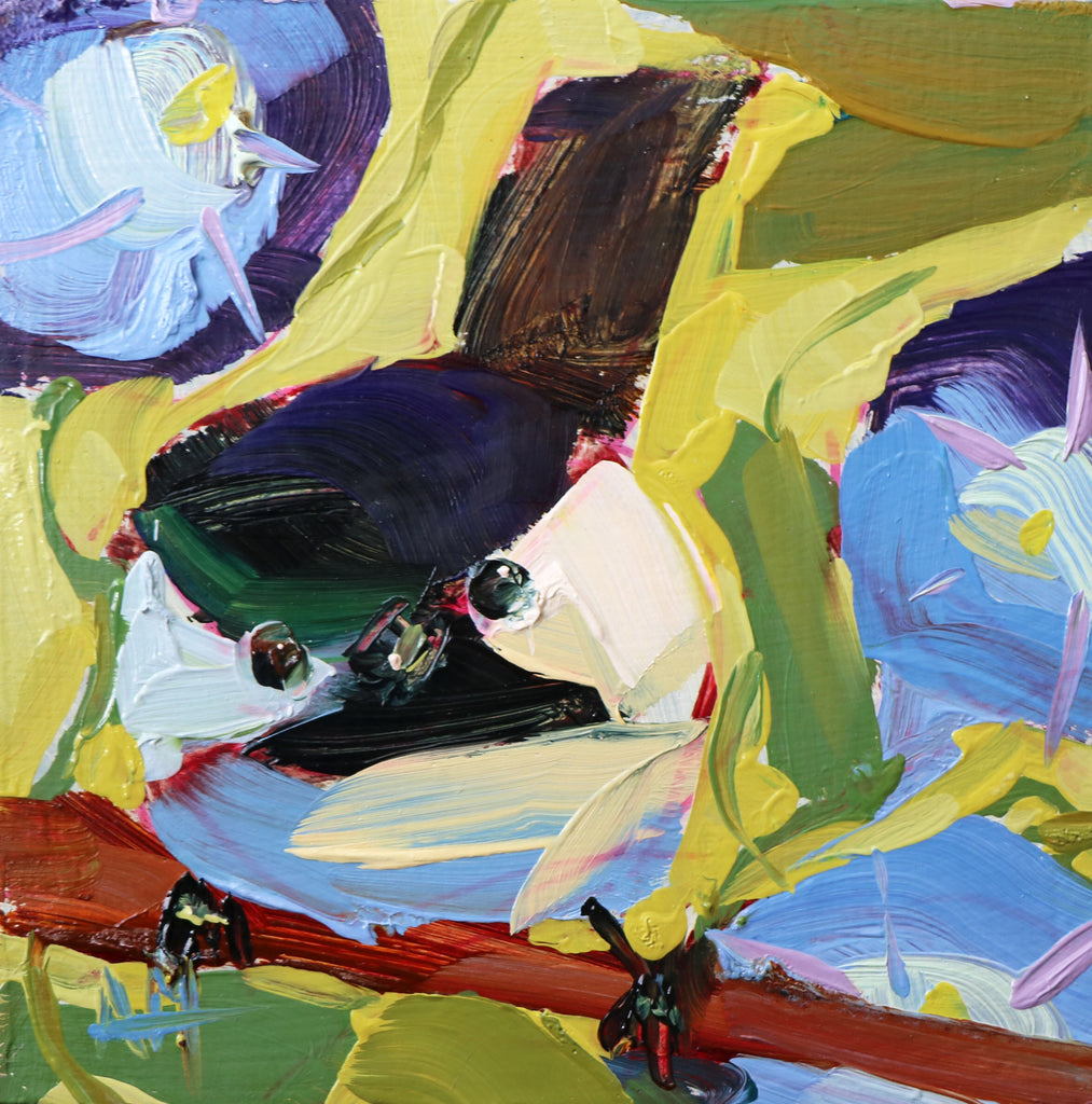Chickadee No. 975 painting Angela Moulton - Christenberry Collection