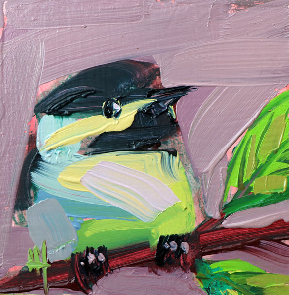 Chickadee No. 980 painting Angela Moulton - Christenberry Collection
