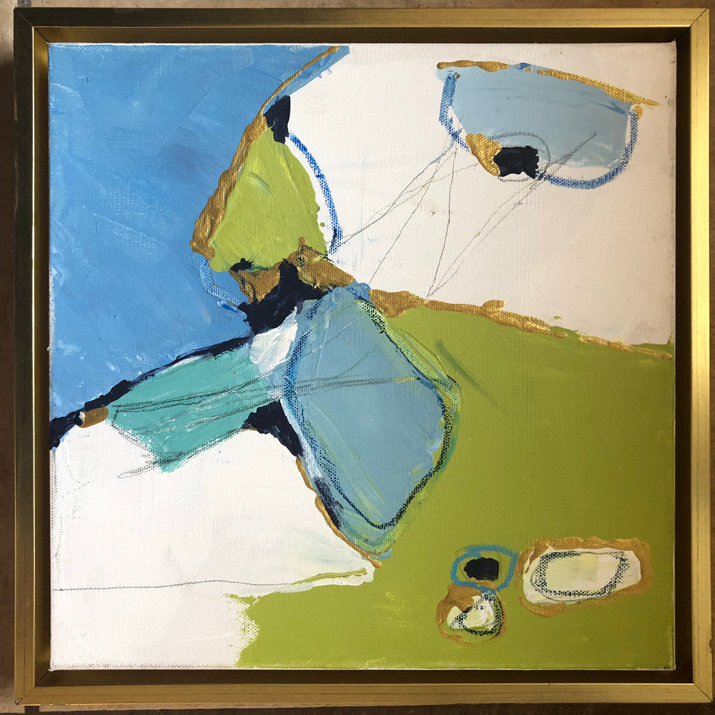 Blue and Green 2 painting Lynnette Driver - Christenberry Collection
