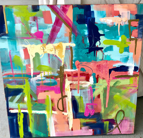 Abstract painting Jenny Moss - Christenberry Collection