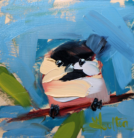 Chickadee No. 1005 painting Angela Moulton - Christenberry Collection