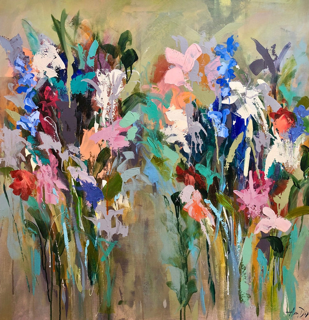 In Praise of Perennials painting Amy Dixon - Christenberry Collection