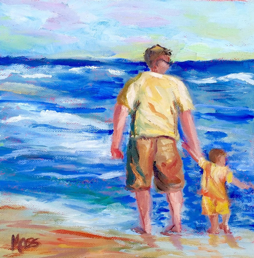 Beach Buddies painting Jenny Moss - Christenberry Collection