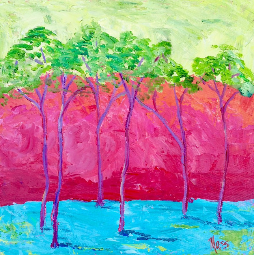 Love That Color painting Jenny Moss - Christenberry Collection