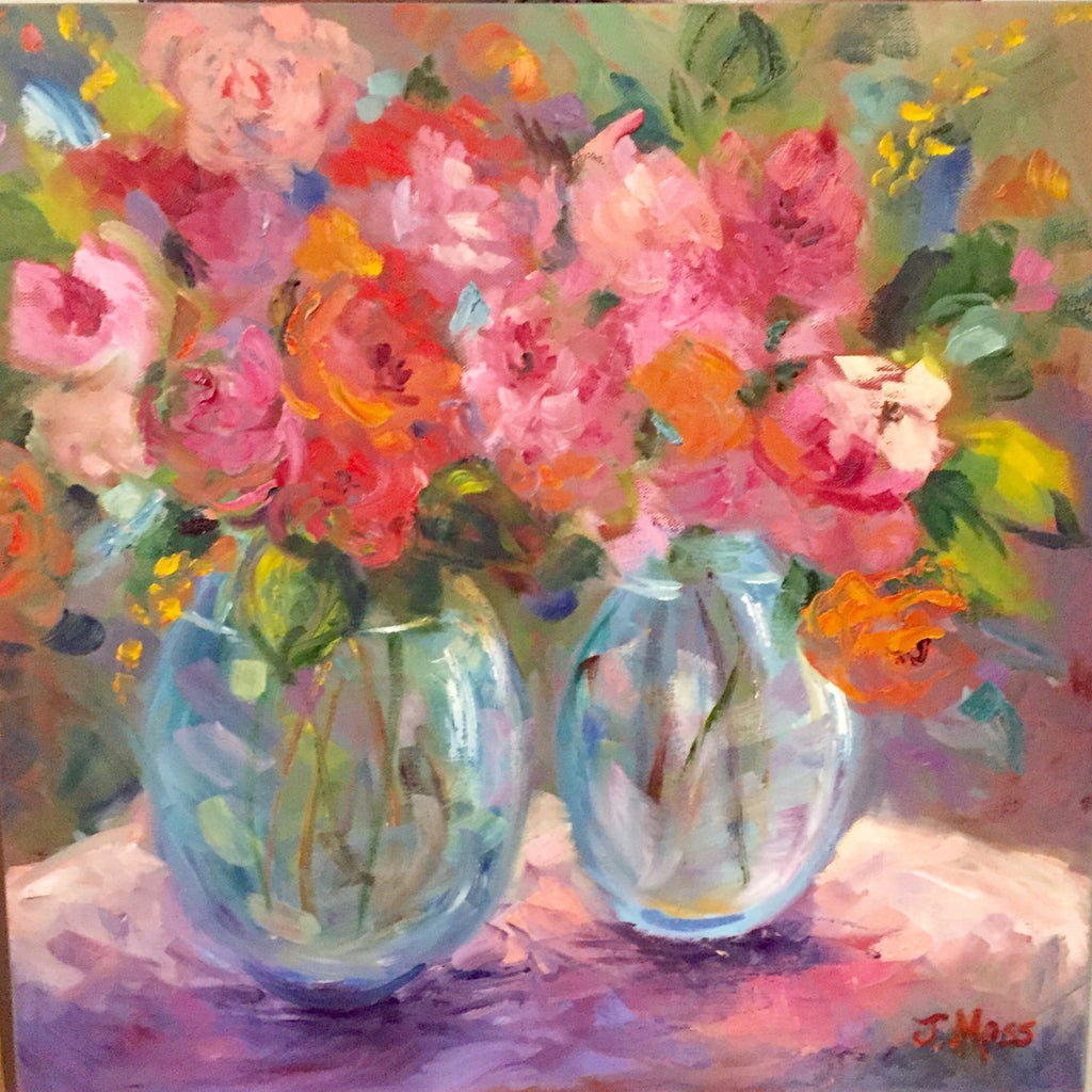 Original Oil Still Life- Pink and Orange | Christenberry Collection