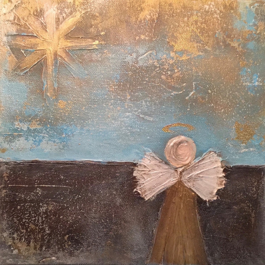 Angel and Star painting Lori Mitchell - Christenberry Collection