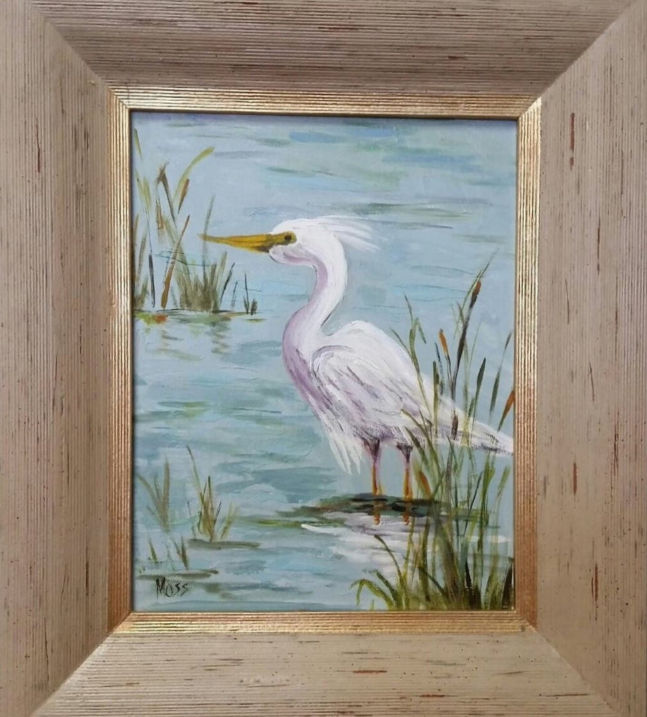 Carolina Heron painting Jenny Moss - Christenberry Collection