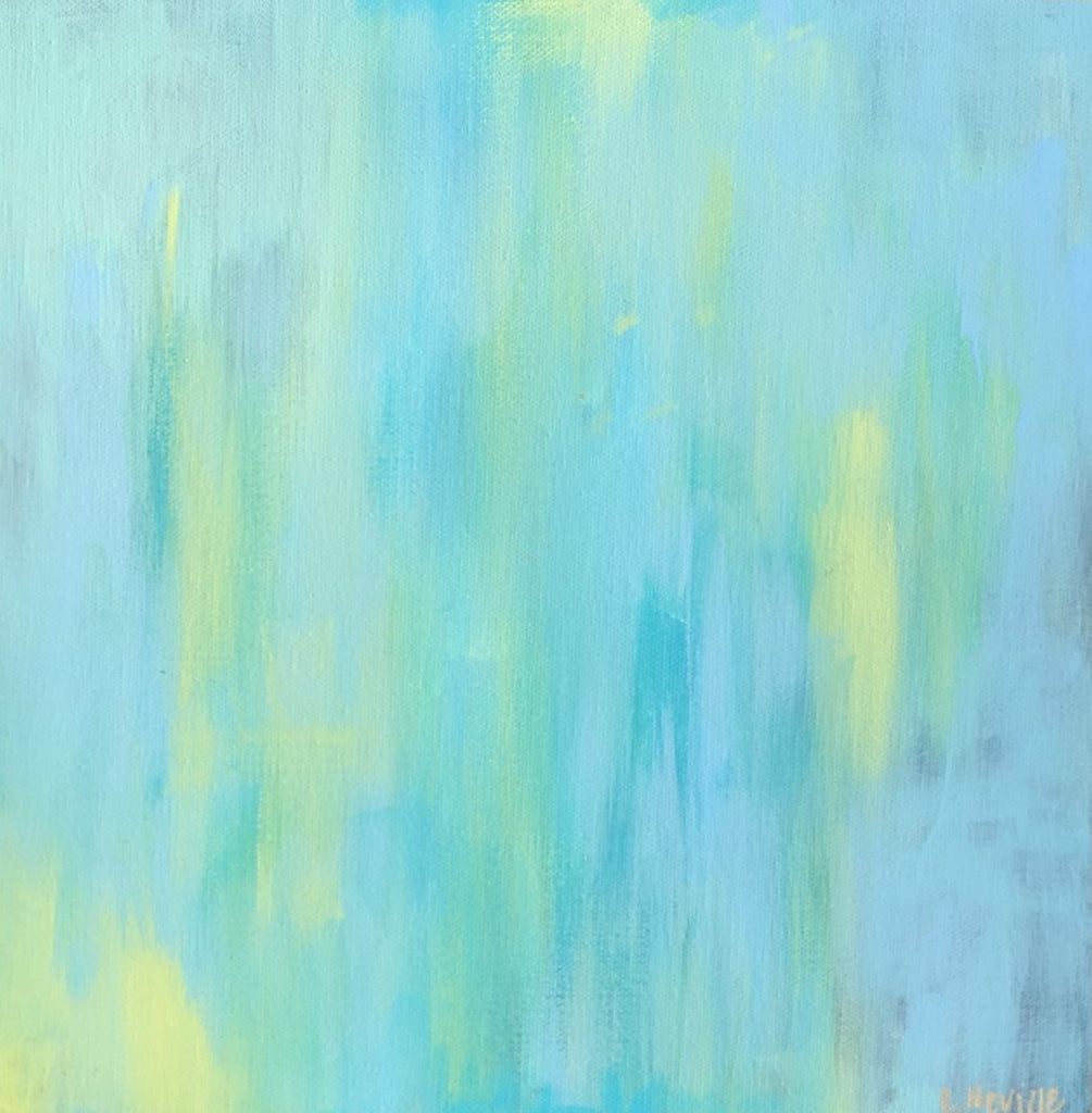 Blue and Yellow painting Lauren Neville - Christenberry Collection