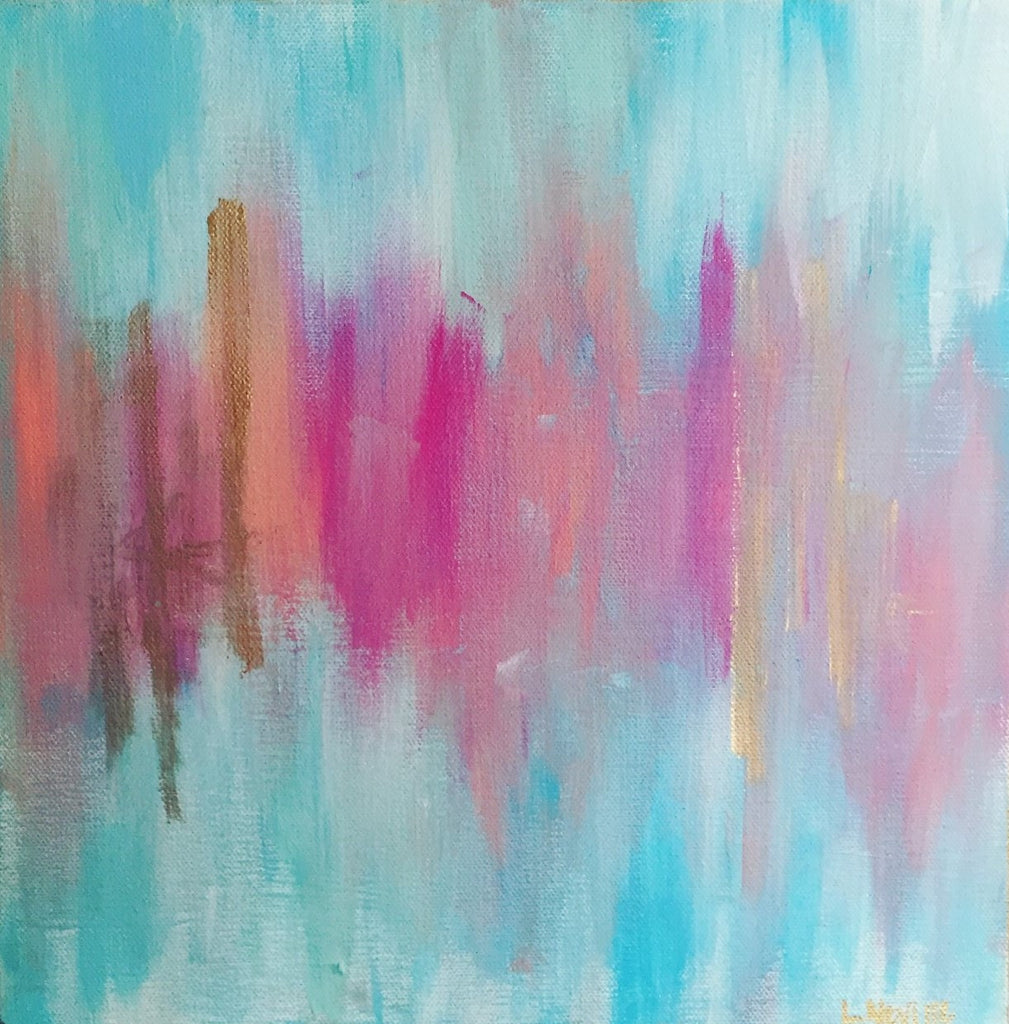 Blues and Pinks painting Lauren Neville - Christenberry Collection