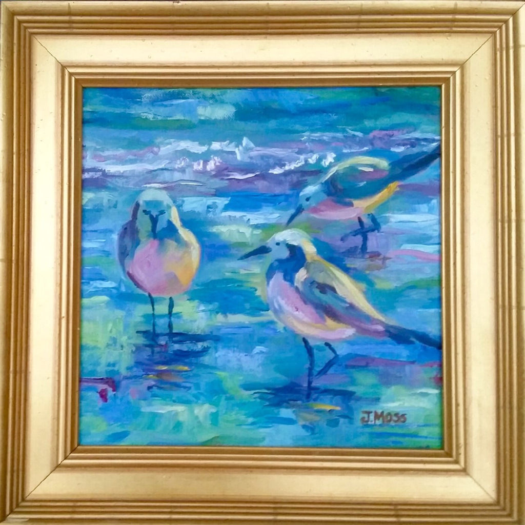 Carolina Birds painting Jenny Moss - Christenberry Collection