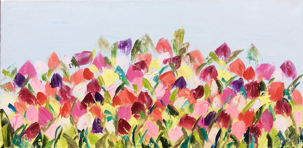 Tulip Field painting Emma Bell - Christenberry Collection