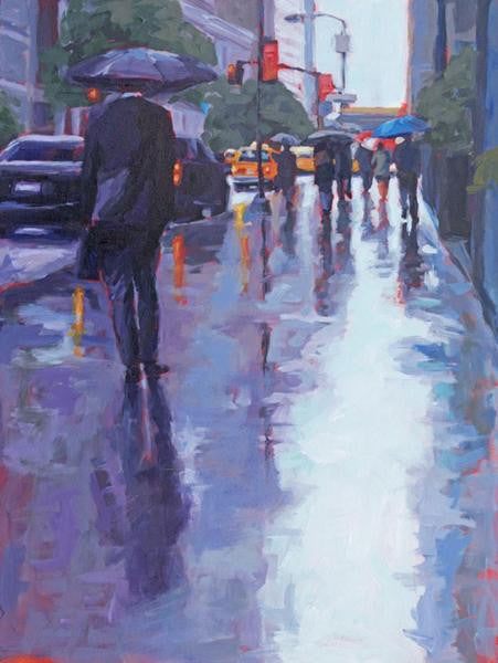 Midtown Mist painting Kelly Berger - Christenberry Collection