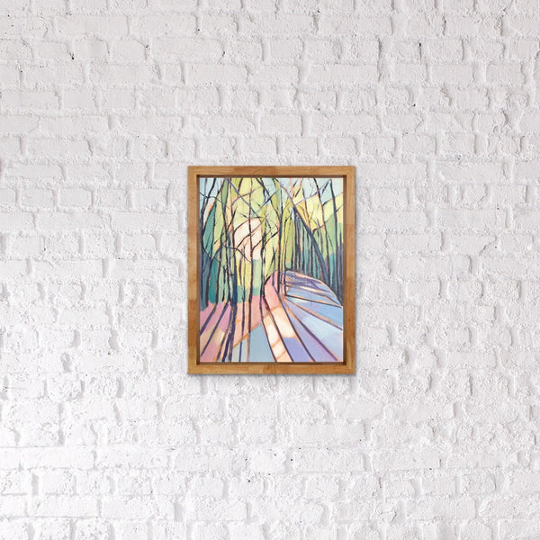 Upward Eyes (Cathedral II) painting Kelly Pelfrey - Christenberry Collection