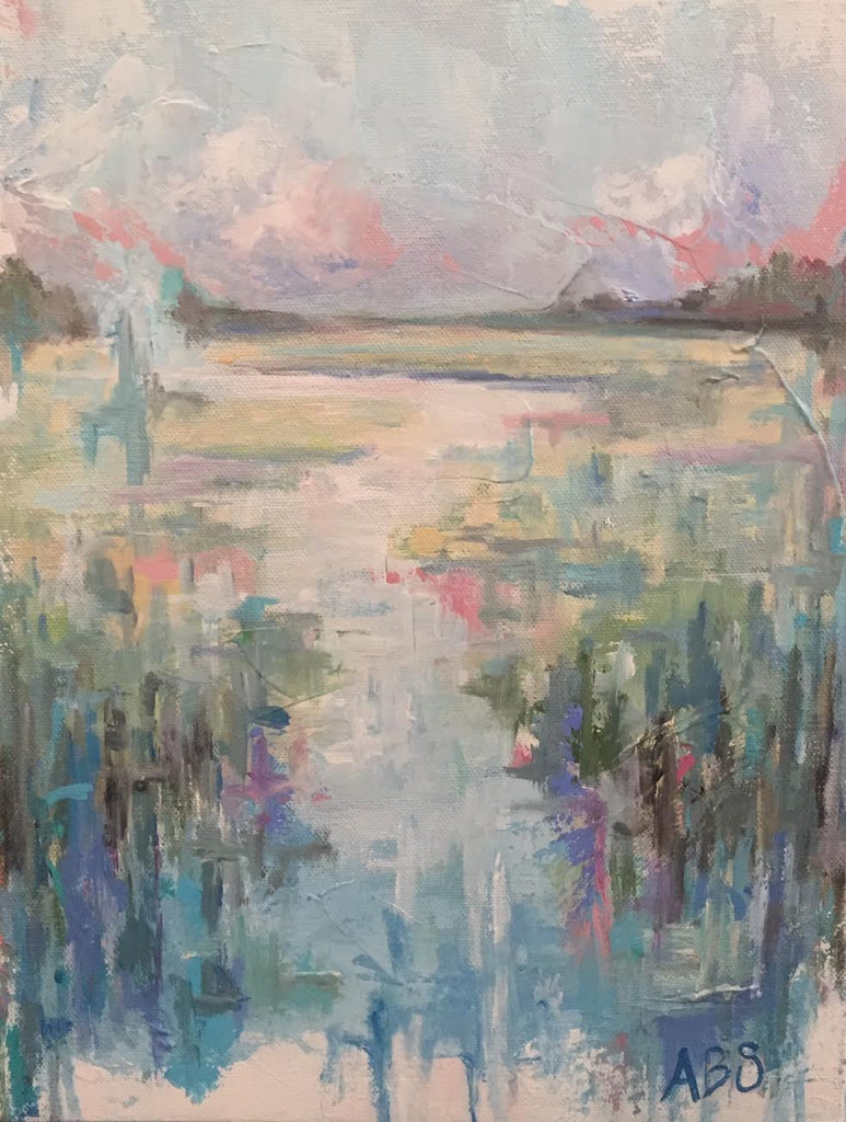 Last Day of Summer Marsh painting Ann Schwartz - Christenberry Collection