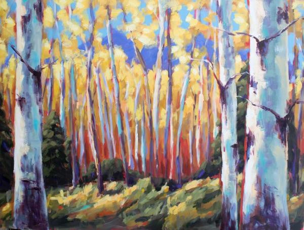 Golden Glow painting Kelly Berger - Christenberry Collection