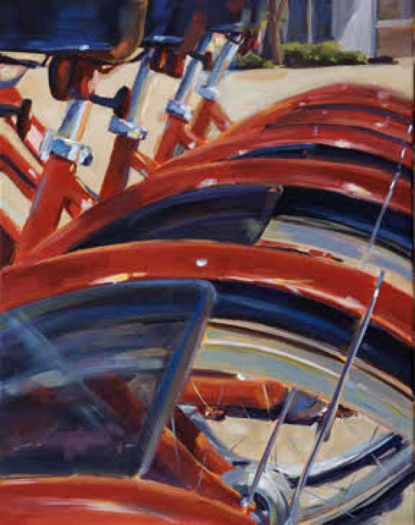 Red Bumpers painting Kelly Berger - Christenberry Collection