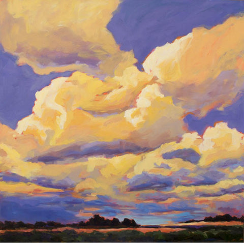 Tangerine Sunset painting Kelly Berger - Christenberry Collection