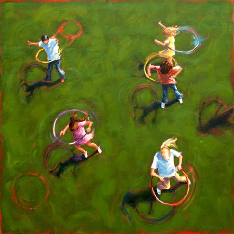 High View Hula Hoops painting Kelly Berger - Christenberry Collection