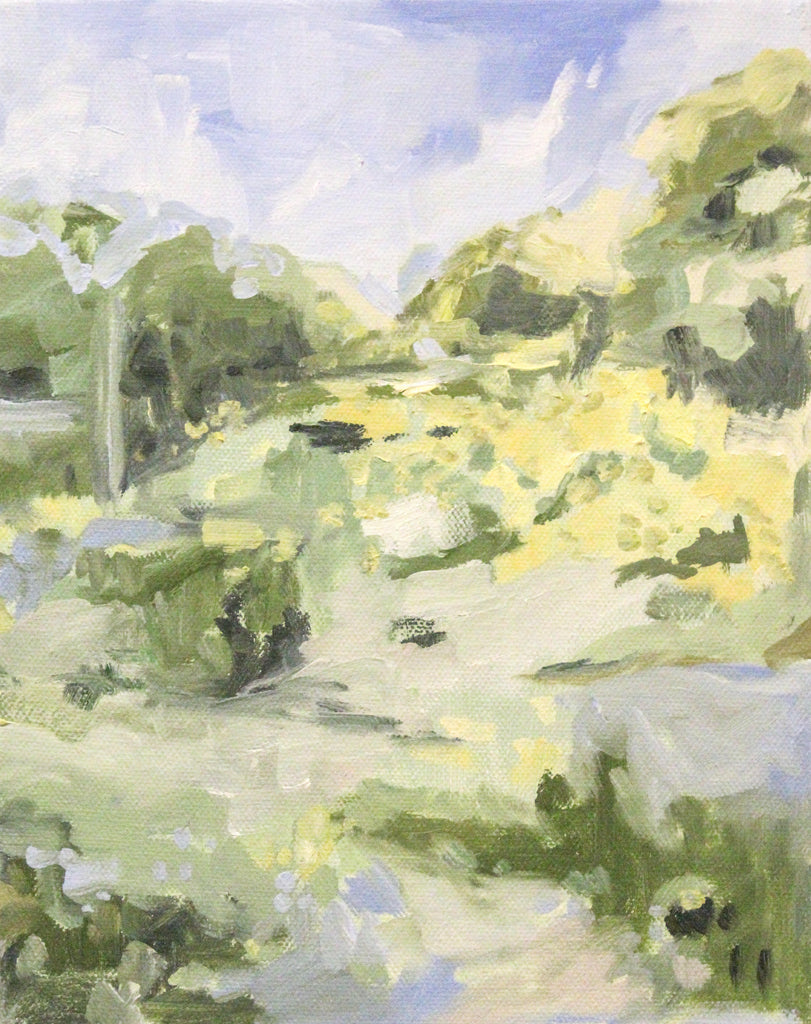 Lush (Verdant) painting Elizabeth McLaurin - Christenberry Collection