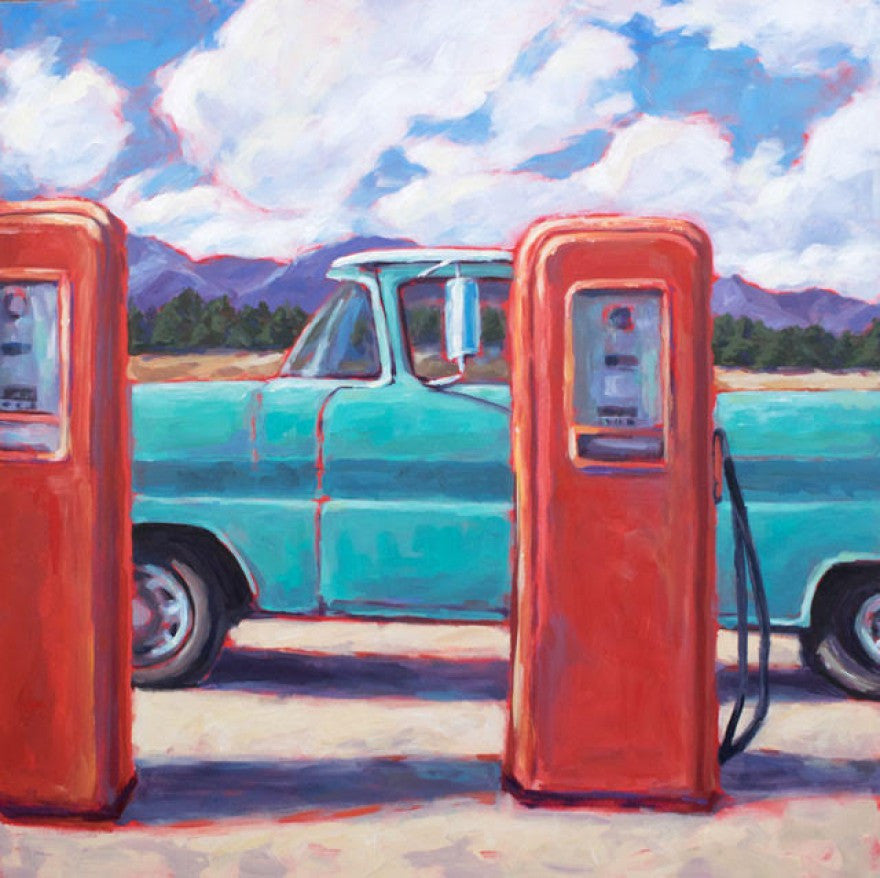 Pump My Ride painting Kelly Berger - Christenberry Collection