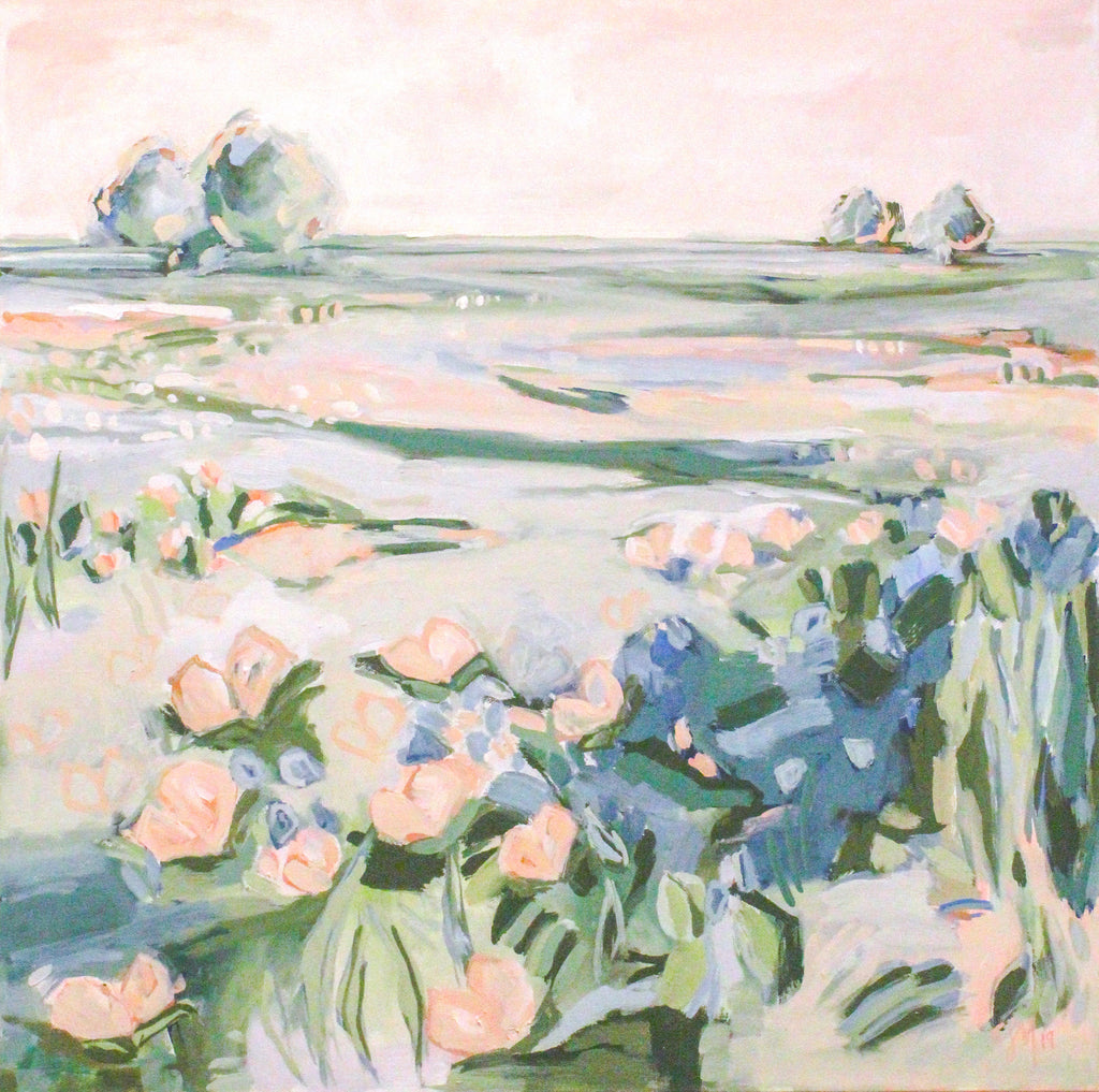 Blushing Field painting Elizabeth McLaurin - Christenberry Collection