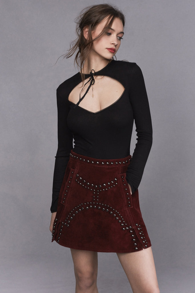 JAMESON LEATHER MINI SKIRT