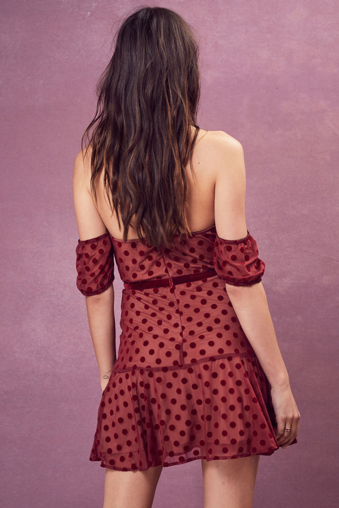 Dotty Strapless Dress