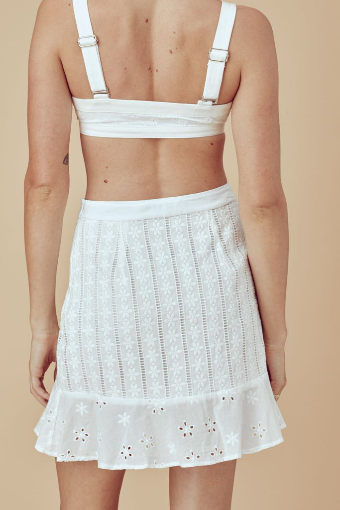 Hermosa Eyelet Mini Skirt