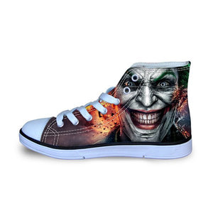 2016 Fashion Canvas Shoes For Women Men High-Top Shoes,Funny Harley Quinn And Joker Printed Shoes,Unisex Casual Shoes Size 35-45