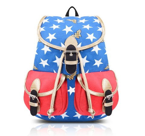 Backpack - Wonder Woman Stars  Backpack