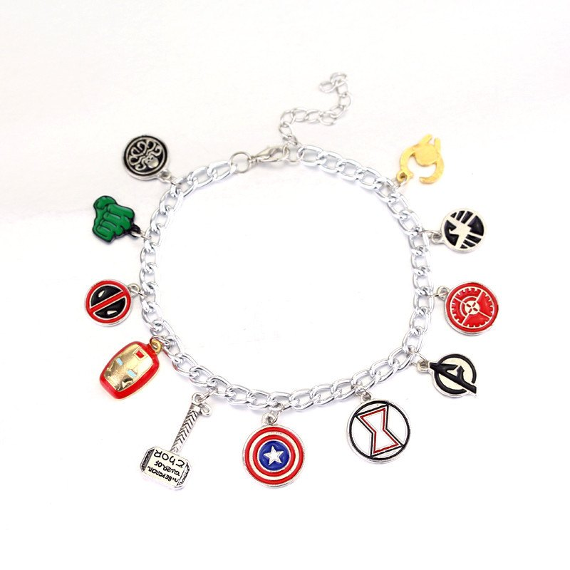 Bracelet - The Avengers Colorful Charm Bracelet