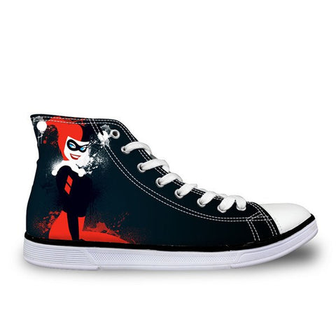 Harley Quinn Printed Shoes (U.S Sizes)