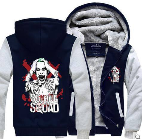 Hoodie - Suicide Squad  Fleece Hoodie - Small Fit Choose 1-2 Size Bigger