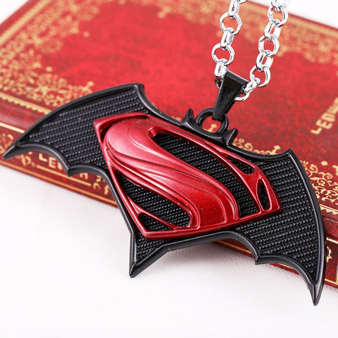 Keychain - Superman Batman Metal Bat Pendant Necklace Black  High Quality Chain Jewelry