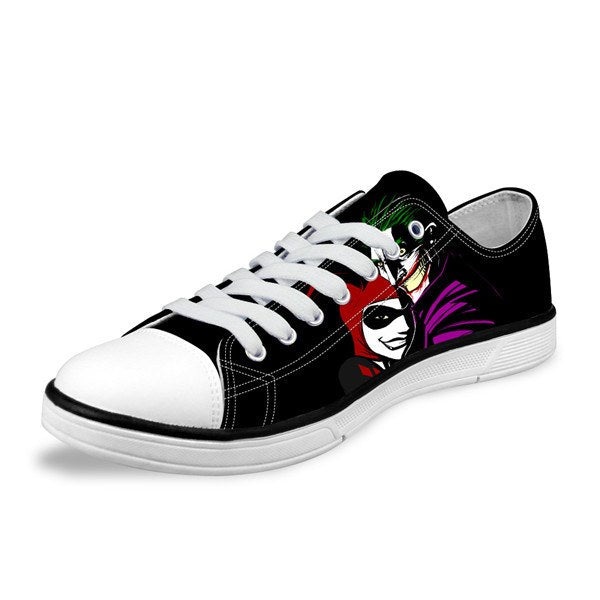 Low Cut Mens Shoes - Joker & Harley Quinn Low Canvas Mens Shoes