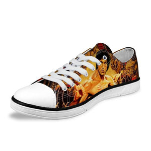 Low Cut Mens Shoes - New Bruce Lee Unisex Canvas Men Shoes Low Style