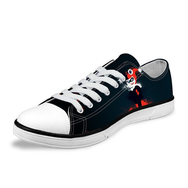 98e4489a9cc053 Low Cut Shoes - Harley Quinn Low Canvas Women Shoes (U.S Sizes)
