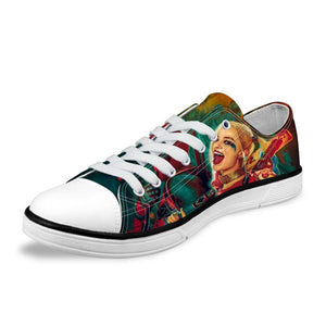 Low Cut Shoes - Harley Quinn Low Canvas Women Shoes  (U.S Sizes)