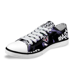 Low Cut Shoes - Joker & Harley Quinn Low Canvas Mens Shoes