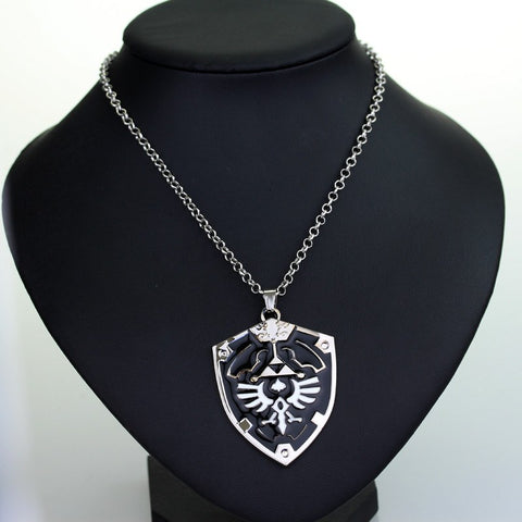 Necklace - The Legend Of Zelda Necklace Jewelry Anime Game Alloy Sword Shield Pendant