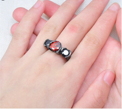 Ring - Harley Quinn Of Hearts Ruby Ring