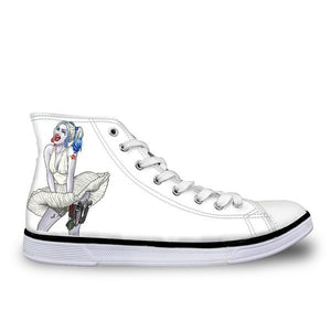 Shoes - Harley Quinn Printed Canvas Shoes (U.S Sizes)